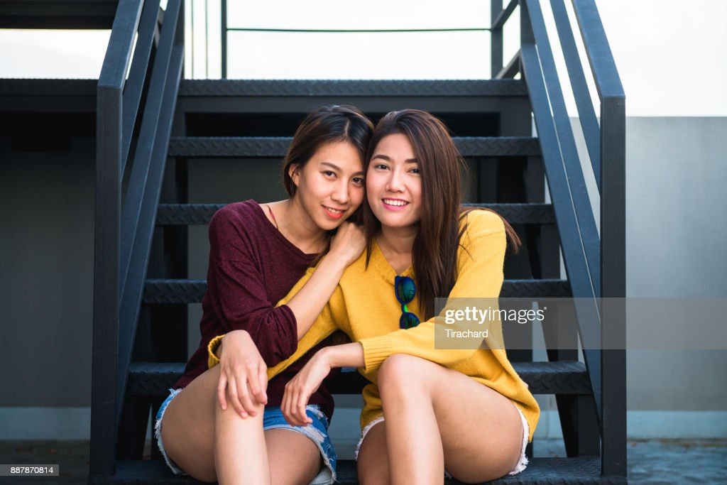 Two asian lesbian think