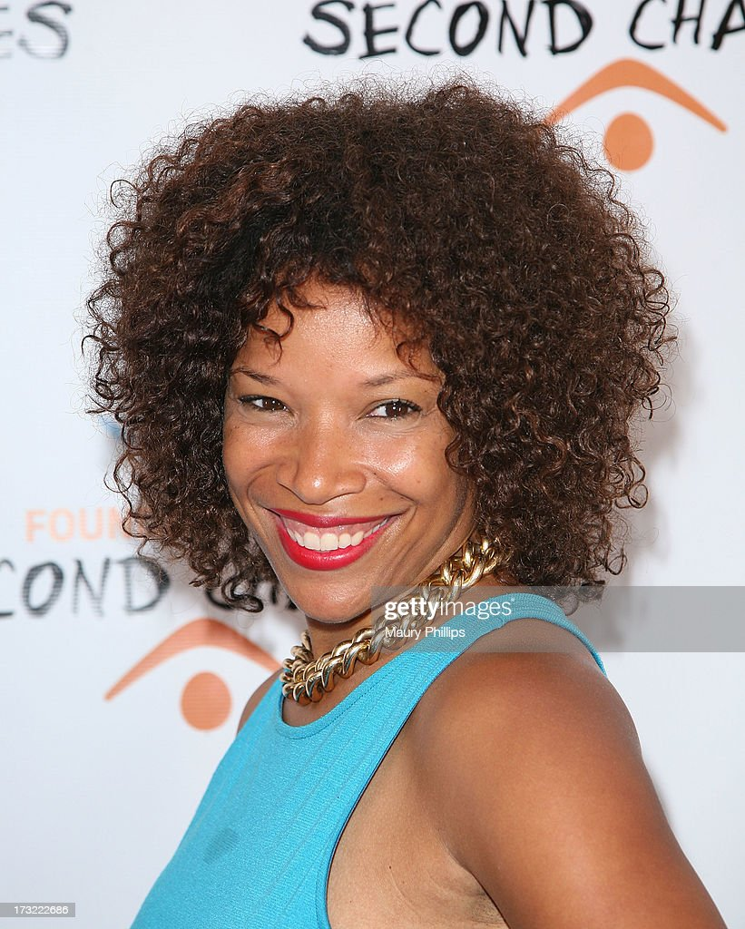 Leshay Boyce arrives at Foundation For Second Chances 'Harlem Nights' Casino event at Huntley Hotel on July 9, 2013 in Santa Monica, California.