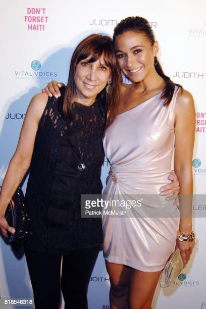 Leslee Feldman and Emmanuelle Chriqui attend Maria Bello and Patricia Arquette cohost 'Don't Forget' Haiti Judith Leiber Event to Benefit Vital...