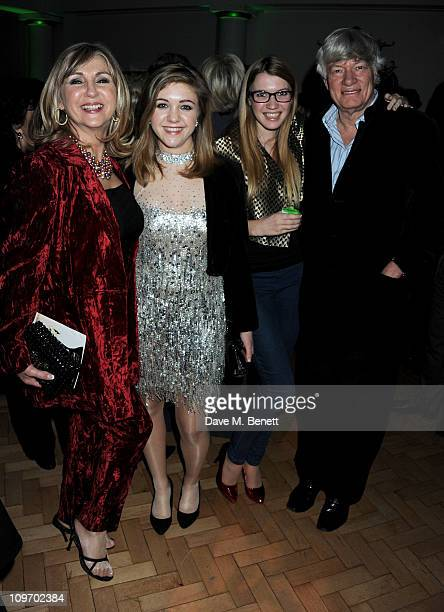 Lesley Garrett daughter Chloe Georgina Robertson and Geoffrey Robertson attend an after party following press night for Andrew Lloyd Webber's new...