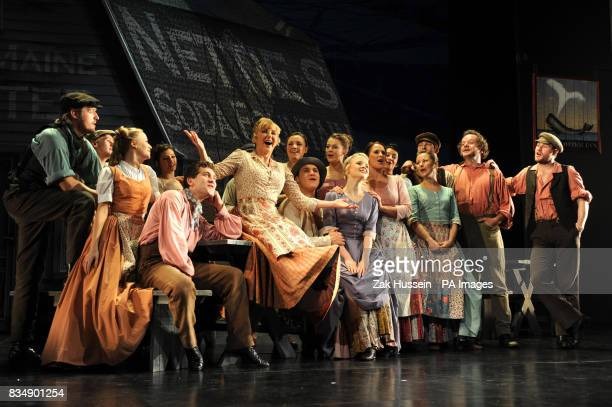 Lesley Garrett performs as Nettie Fowler with fellow cast members in a scene from Richard Rodgers and Oscar Hammerstein's 'Carousel' during a...