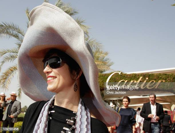 Lesley Goldwasser attends the Cartier International Dubai Polo Challenge at the Desert Palm Hotel on February 18 2011 in Dubai United Arab Emirates...