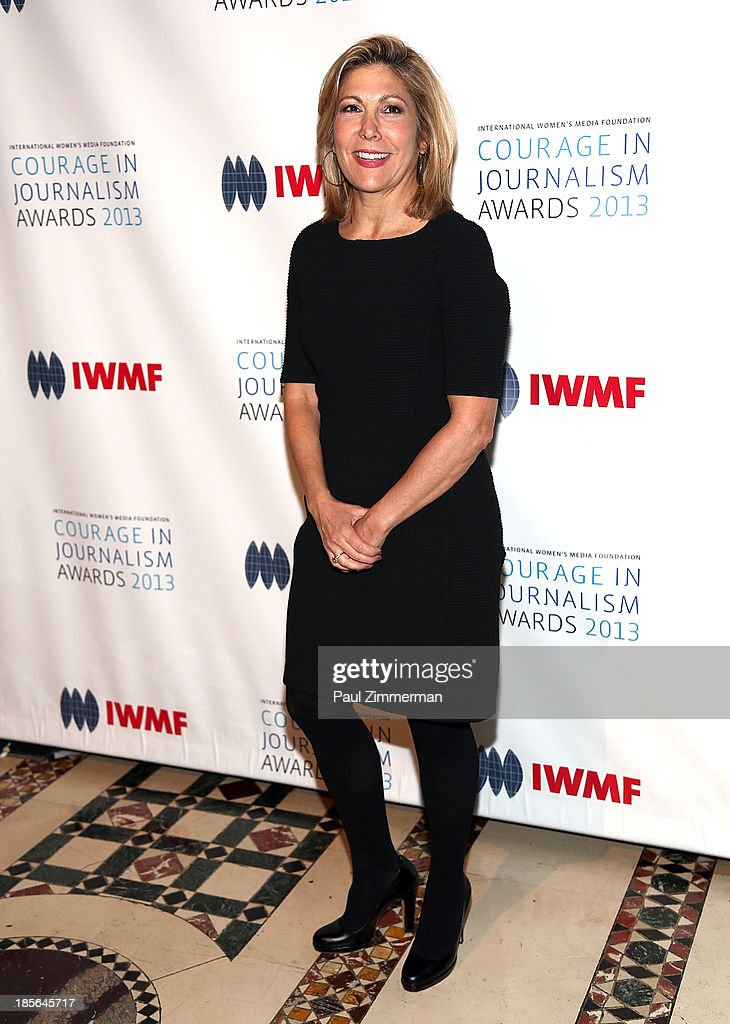 Lesley James Seymour attends the International Women's Media Foundation's 2013 Courage In Journalism awards at Cipriani 42nd Street on October 23, 2013 in New York City.