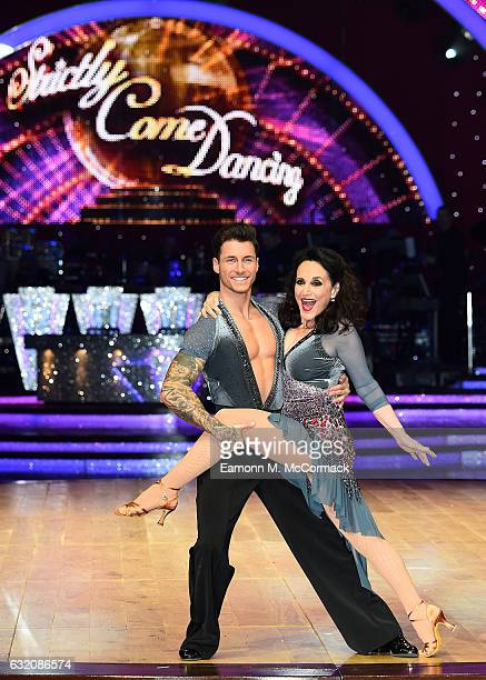 Lesley Joseph and Gorka Marquez attend Strictly Come Dancing Live Tour Photocall on January 19 2017 in Birmingham England