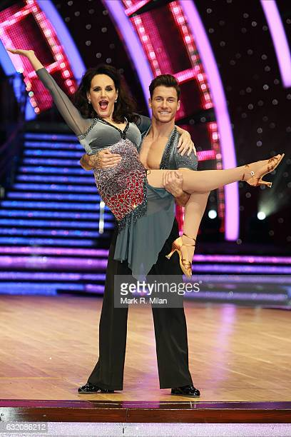 Lesley Joseph and Gorka Marquez attend the photocall for the 'Strictly Come Dancing' live tour on January 19 2017 in Birmingham England