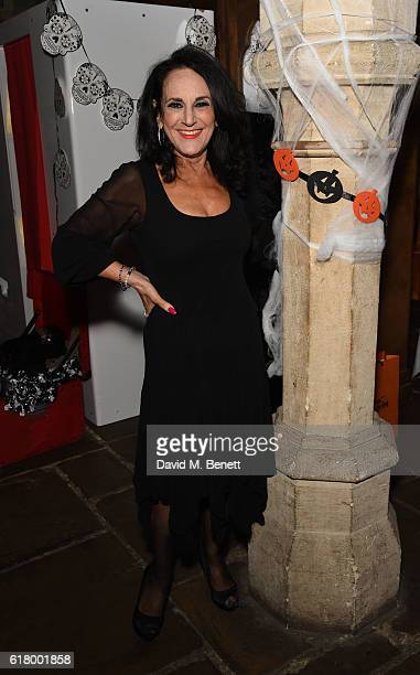 Lesley Joseph attends the launch of the 7th Heaven Halloween Spa at The Crypt on October 25 2016 in London England