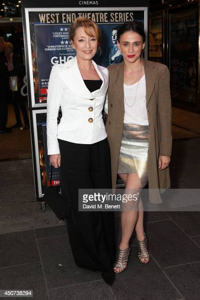 Lesley Manville and Charlene McKenna attends the London Premiere of The Almeida Theatre production of 'Ghosts' at the Empire Leicester Square on June...