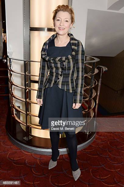 Lesley Manville attends the 2014 Critics' Circle Theatre Awards at the Prince Of Wales Theatre on January 28 2014 in London England