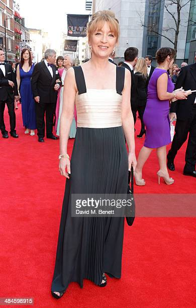 Lesley Manville attends the Laurence Olivier Awards at The Royal Opera House on April 13 2014 in London England