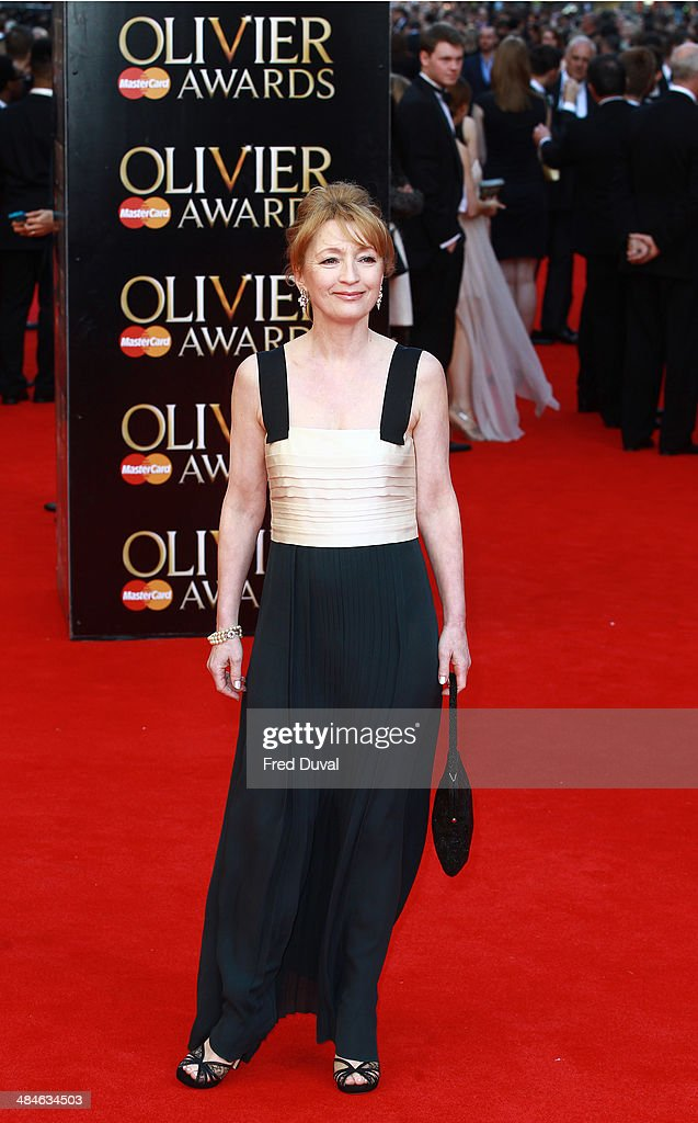 <a gi-track='captionPersonalityLinkClicked' href=/galleries/search?phrase=Lesley+Manville&family=editorial&specificpeople=2826107 ng-click='$event.stopPropagation()'>Lesley Manville</a> attends The Laurence Olivier Awards with MasterCard at The Royal Opera House on April 13, 2014 in London, England.