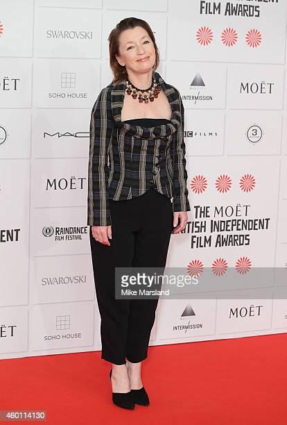 Lesley Manville attends the Moet British Independent Film Awards at Old Billingsgate Market on December 7 2014 in London England