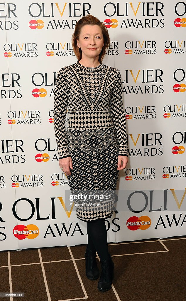 Lesley Manville attends the nominations photocall for the Olivier Awards at Rosewood London on March 9, 2015 in London, England.