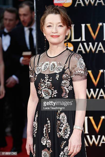 Lesley Manville attends The Olivier Awards with Mastercard at The Royal Opera House on April 3 2016 in London England