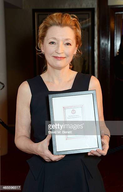 Lesley Manville winner of Best Actress for her performance in 'Ghosts' attends the 2014 Critics' Circle Theatre Awards at the Prince Of Wales Theatre...