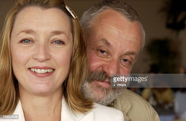 Lesley Manville writer/director Mike Leigh