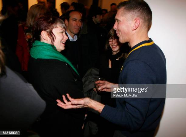 Lesley Martin and Erwin Olaf attend ERWIN OLAF Opening Reception at Hasted Hunt Kraeutler on January 28 2010 in New York