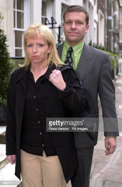 Lesley Pallister and her husband Gary Pallister leave the General Medical Council London after giving evidence against gynaecologist Janusz...