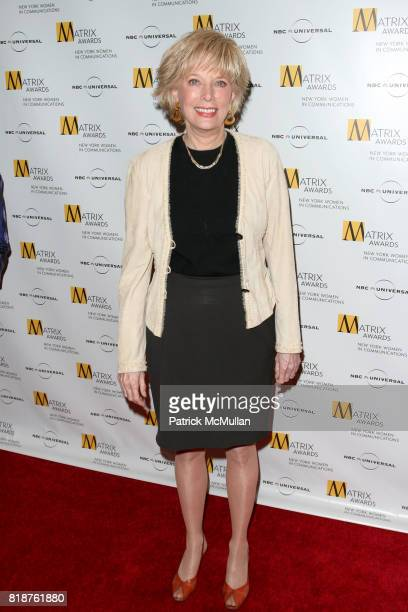 Lesley Stahl attends New York WOMEN IN COMMUNICATIONS Presents The 2010 MATRIX AWARDS at Waldorf Astoria on April 19 2010 in New York City