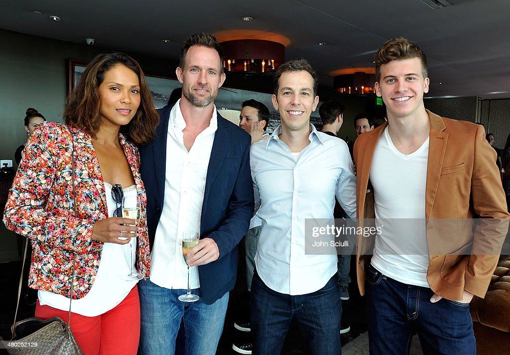 Lesley-Ann Brandt, Chris Payne Gilbert, Josh Berman and Barrett Carnahan attend the 'Drop Dead Diva' final season premiere party on March 23, 2014 in West Hollywood, California.