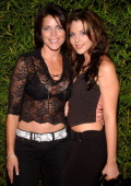 Lesli Kay and Adrianne Leon during SOAPnet Fall 2004 Launch Party at Falcon in Hollywood California United States