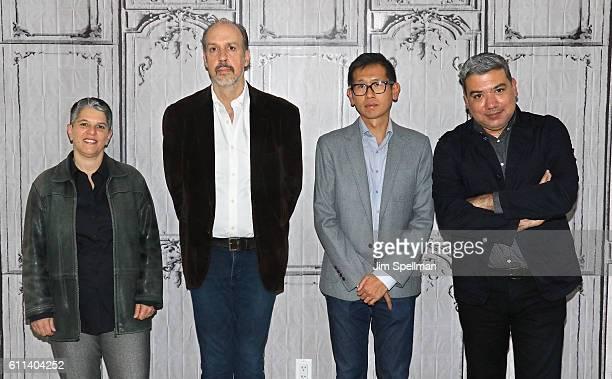 Lesli Klainberg director of programming Kent Jones executive director of FSLC Dennis Lim and director of The New York Film Festival Eugene Hernandez...