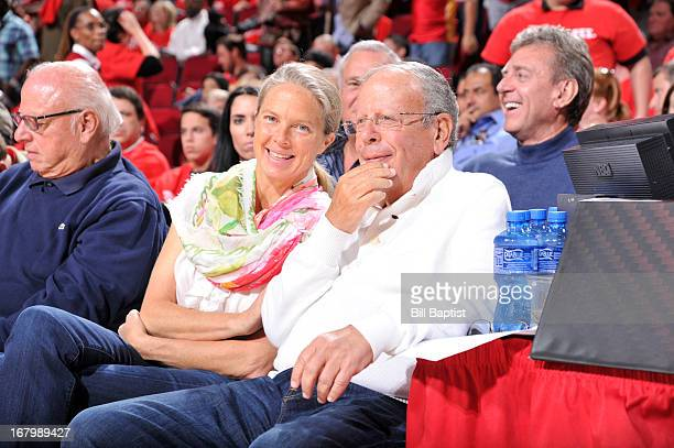 Leslie Alexander Owner of the Houston Rockets watches the game against the Oklahoma City Thunder in Game Six of the Western Conference Quarterfinals...