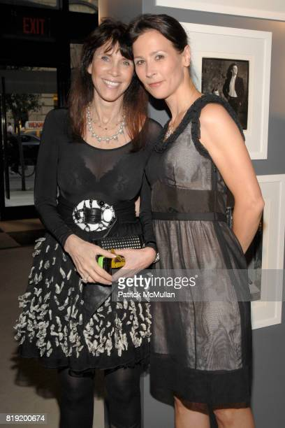 Leslie and Severine FritschFontanges attend Salon de Louis Vuitton honoring Mikhail Baryshnikov at Louis Vuitton Maison on July 6 2010 in New York...