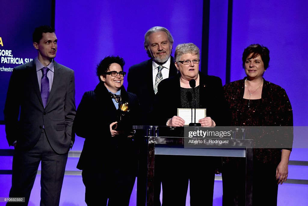 Leslie Ann Jones accepts the award for Best Engineering - Classical onstage during the GRAMMY Pre-Telecast at The 58th GRAMMY Awards at Microsoft Theater on February 15, 2016 in Los Angeles, California.