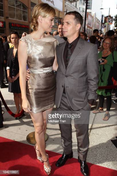 Leslie Bibb and Sam Rockwell arrive at the 'Conviction' premiere held at The Elgin during 2010 Toronto International Film Festival on September 11...