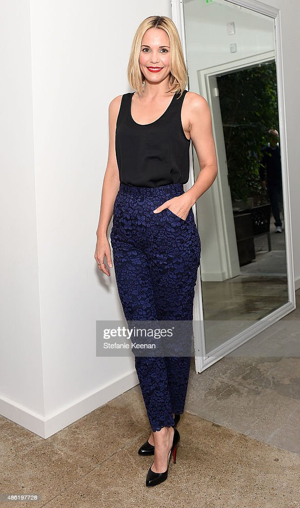 Leslie Bibb attends The A List 15th Anniversary Party on September 1, 2015 in Beverly Hills, California.
