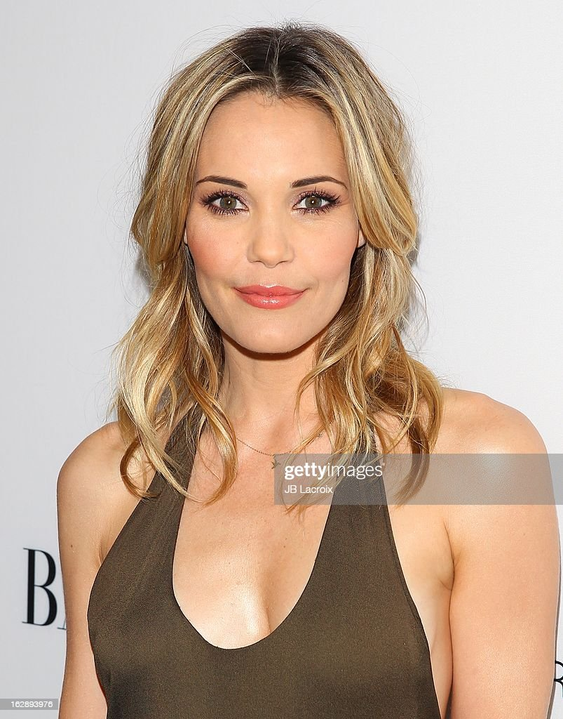 Leslie Bibb attends the Dukes Of Melrose launch hosted by Decades and Harper's BAZAAR at The Terrace at Sunset Tower on February 28, 2013 in West Hollywood, California.