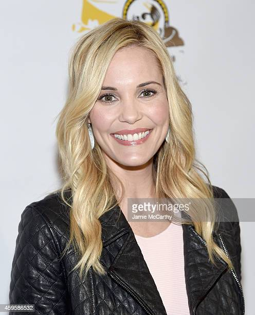 Leslie Bibb attends The Friar Club Presents 'Take Care' New York Screening at The Friars Club on November 25 2014 in New York City