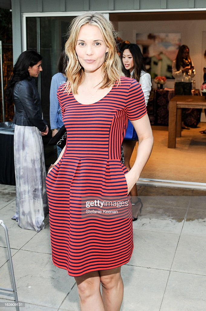 Leslie Bibb attends Theodora And Callum Cocktail Party on March 13, 2013 in Beverly Hills, California.