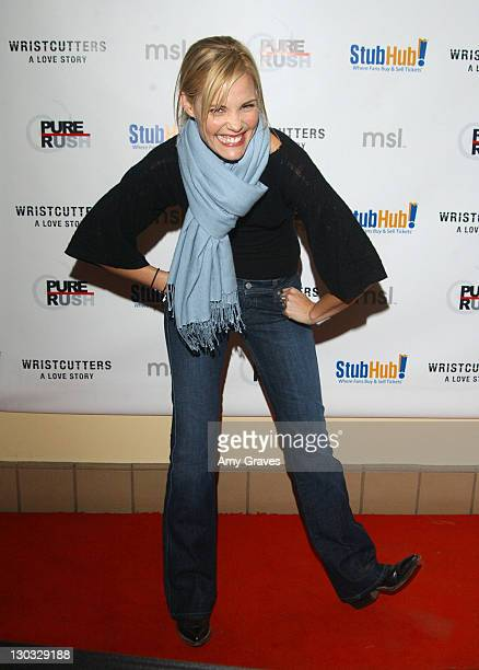 Leslie Bibb during 2006 Sundance Film Festival 'Wristcutters A Love Story' Premiere at Racquet Club in Park City Utah United States
