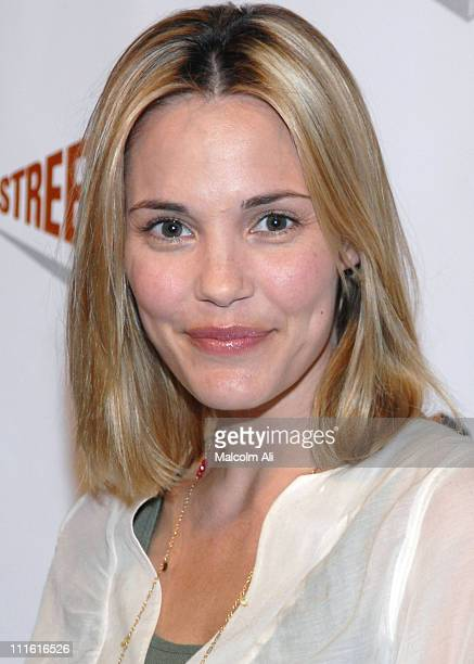 Leslie Bibb during One Street One Heartbeat One Love Gala at Bergamot Station Track 16 in Los Angeles CA United States