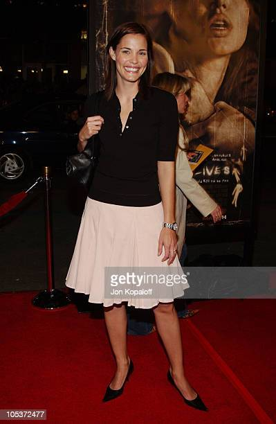Leslie Bibb during 'Taking Lives' World Premiere at Grauman's Chinese Theater in Hollywood California United States