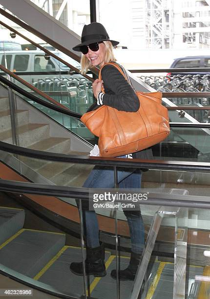 Leslie Bibb is seen at LAX on January 26 2015 in Los Angeles California