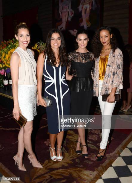 Leslie Bibb Katie Lee Odette Annable and Selita Ebanks attend as Clos Du Bois Winery Celebrates The Launch Of Rouge on August 15 2012 in New York City