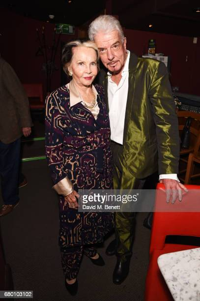 Leslie Caron and Nicky Haslam attend as Nicky Haslam performs his new cabaret show 'Wherever There's Love' at The Pheasantry on May 7 2017 in London...