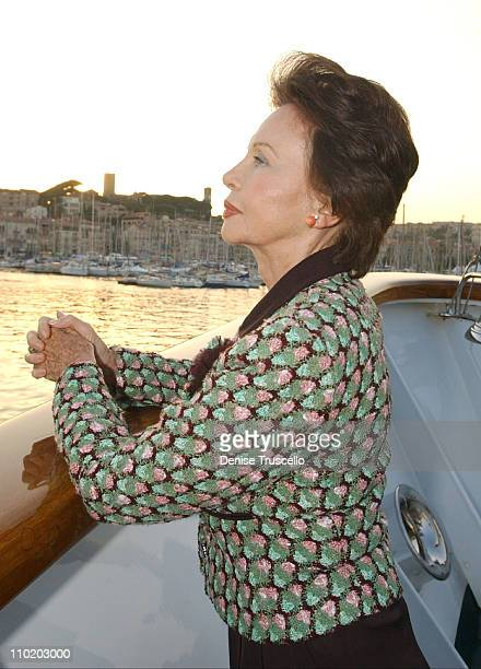 Leslie Caron during 2004 Cannes Film Festival amFAR DVD Release After Party at The Big Eagle Yacht Port de Cannes in Cannes France