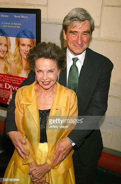 Leslie Caron Sam Waterston during 'Le Divorce' Premiere Los Angeles at Mann's Festival Theatre in Westwood California United States