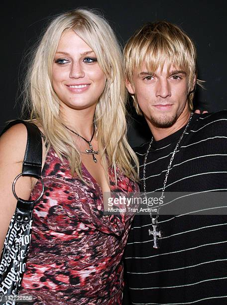 Leslie Carter and Aaron Carter during Howie Dorough Birthday Celebration to Raise Awareness of Lupus at LAX in Hollywood California United States