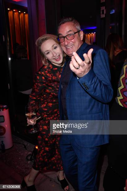 Leslie Clio and Angelo Colagrossi attend the New Faces Award Film at Haus Ungarn on April 27 2017 in Berlin Germany