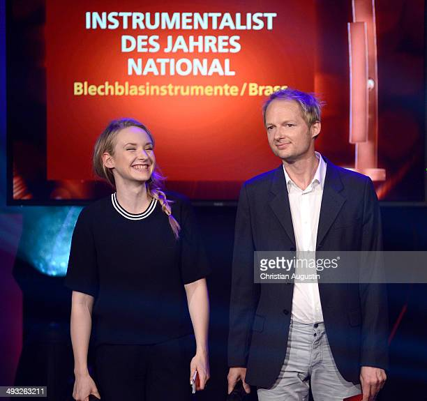 Leslie Clio and Michel van Dyke attend Echo Jazz Award 2014 ceremony at Kampnagel on May 22 2014 in Hamburg Germany
