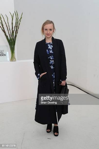 Leslie Clio attends the Marcel Ostertag show during the MercedesBenz Fashion Week Berlin Spring/Summer 2018 at Delight Studios on July 5 2017 in...