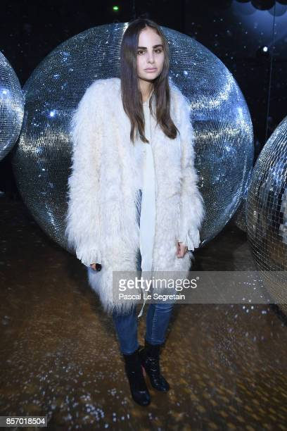 Leslie Cohen Amon attends the Moncler Gamme Rouge show as part of the Paris Fashion Week Womenswear Spring/Summer 2018 on October 3 2017 in Paris...
