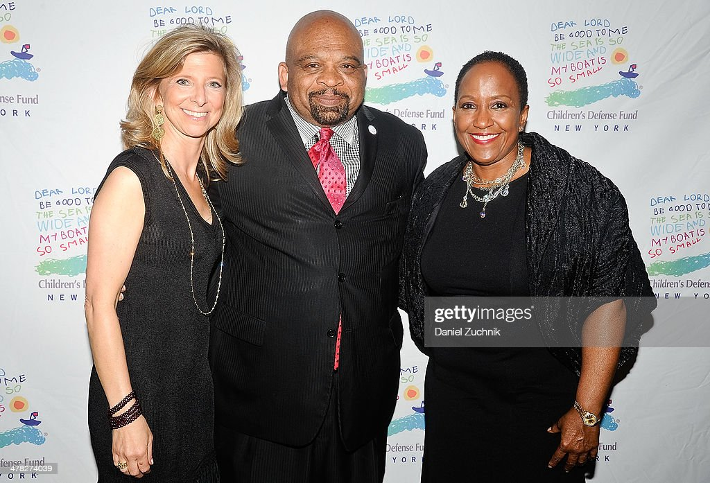 Leslie Cornfeld, George Gresham and Vicki Fuller attend the 40th Anniversary Children's Defense Fund 'Beat The Odds' Gala at The Pierre Hotel on March 12, 2014 in New York City.