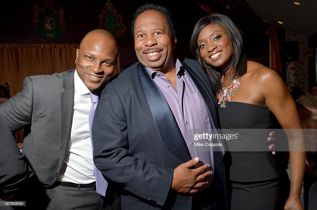 <a gi-track='captionPersonalityLinkClicked' href=/galleries/search?phrase=Leslie+David+Baker&family=editorial&specificpeople=841061 ng-click='$event.stopPropagation()'>Leslie David Baker</a> and Lola Ogunnaike attend the Celebrating The Arts In American Dinner Party With Distinguished Women In Media Presented By Landmark Technology Inc. And The Creative Coalition at Neyla on April 26, 2013 in Washington, DC.