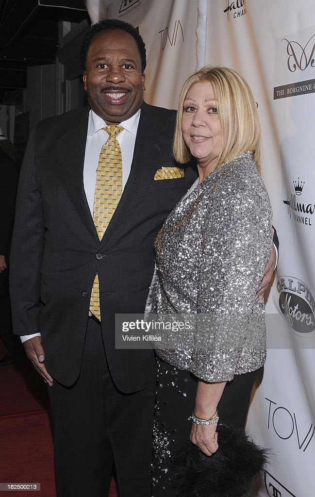 Leslie David Baker and Nancee Borgnine attend The Borgnine Movie Star Gala at Sportsmen's Lodge Event Center on February 23, 2013 in Studio City, California.