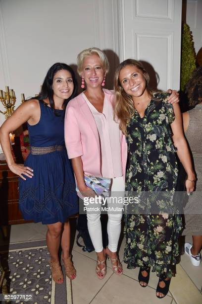 Leslie Derderian Dorinda Medley and Hannah Silver attend Christmas in August with NEST Fragrances on August 2 2017 in New York City